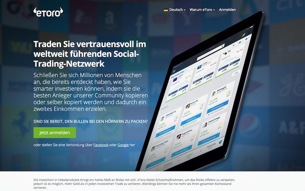 eToro Social Trading Testsieger
