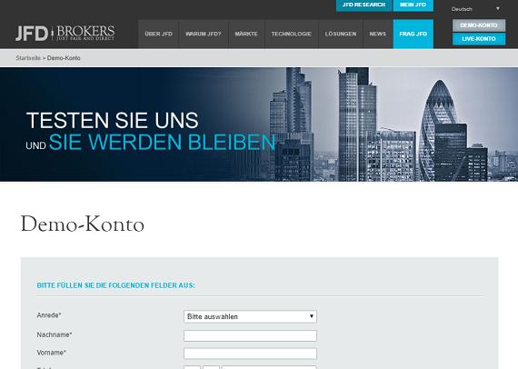 Erfahrungswerte mit dem JFD Brokers Demokonto