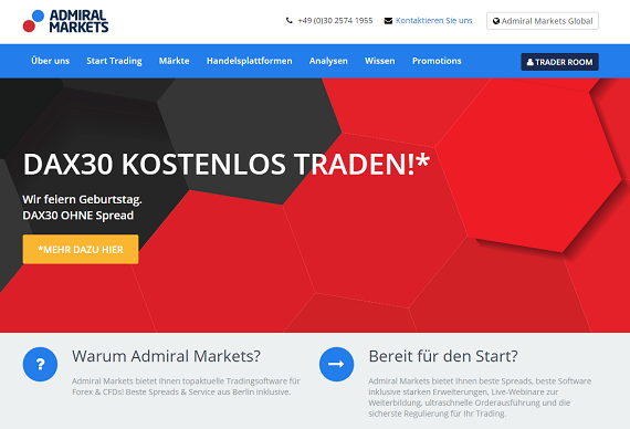Admiral Markets Homepage