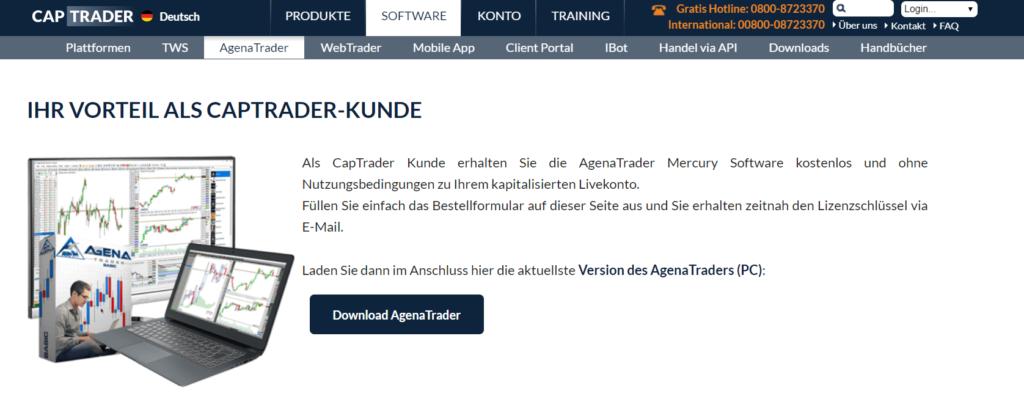Der AgenaTrader wird den Kunden kostenlos zur Verfügung gestellt