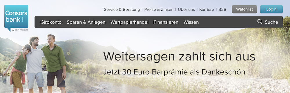 Consorsbank Prämie Kunden werben Consorsbank Freunde werben