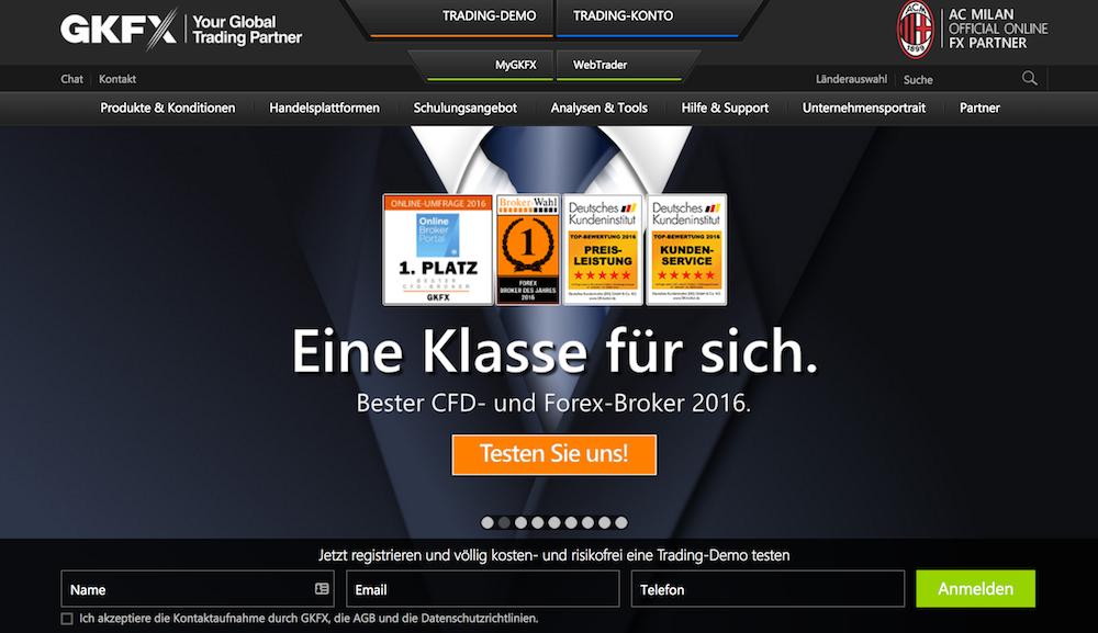 GKFX Webseite