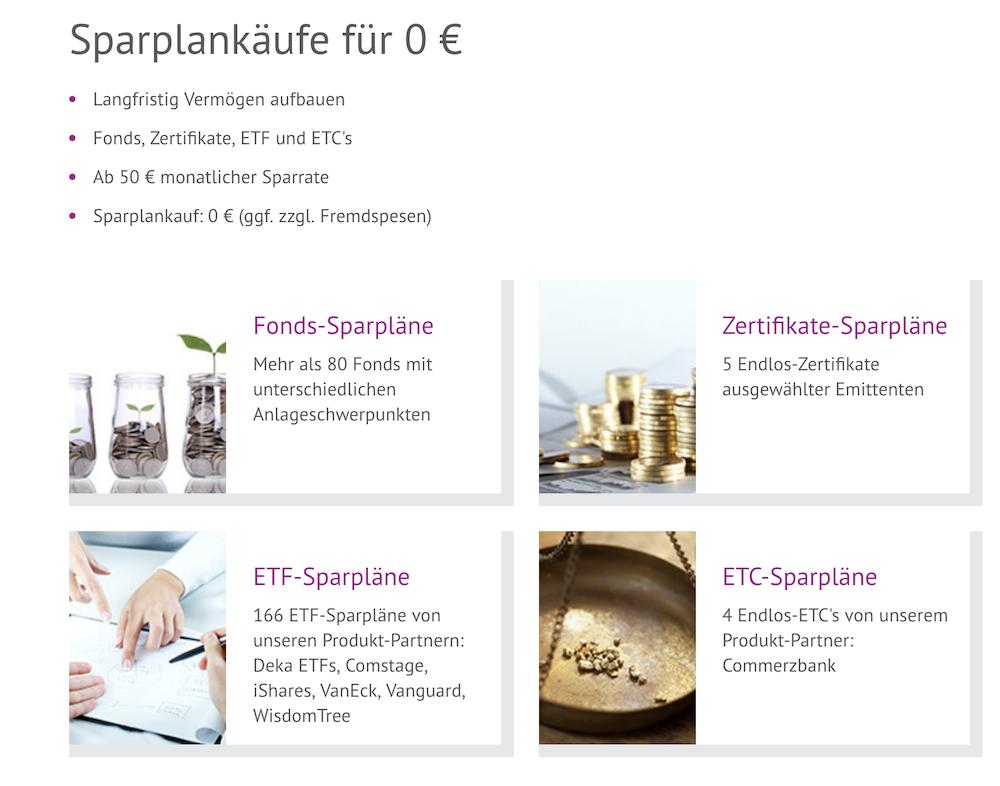 OnVista Bank Sparpläne