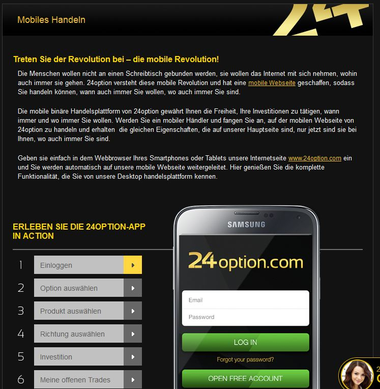 24Option Applikationen
