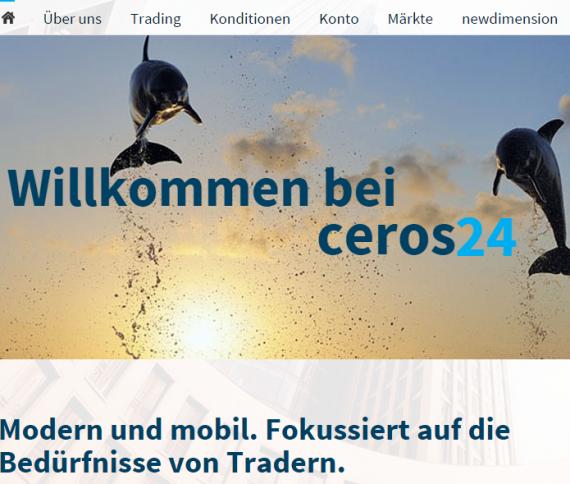Blick auf die Webseite von Ceros24