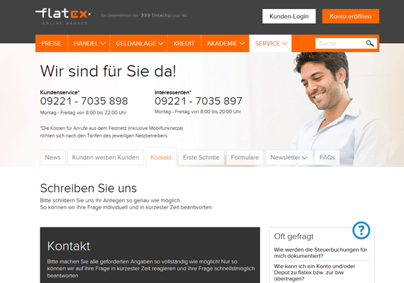 Flatex Kundensupport