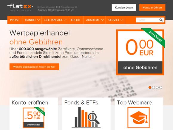 Flatex Wertpapierhandel ohne Gebühren