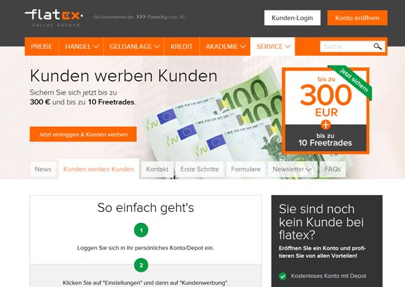 Flatex Bonus für Neukunden
