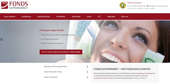 FondsSuperMarkt Webseite