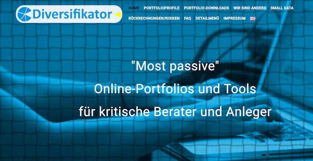 Diversifikator Webseite