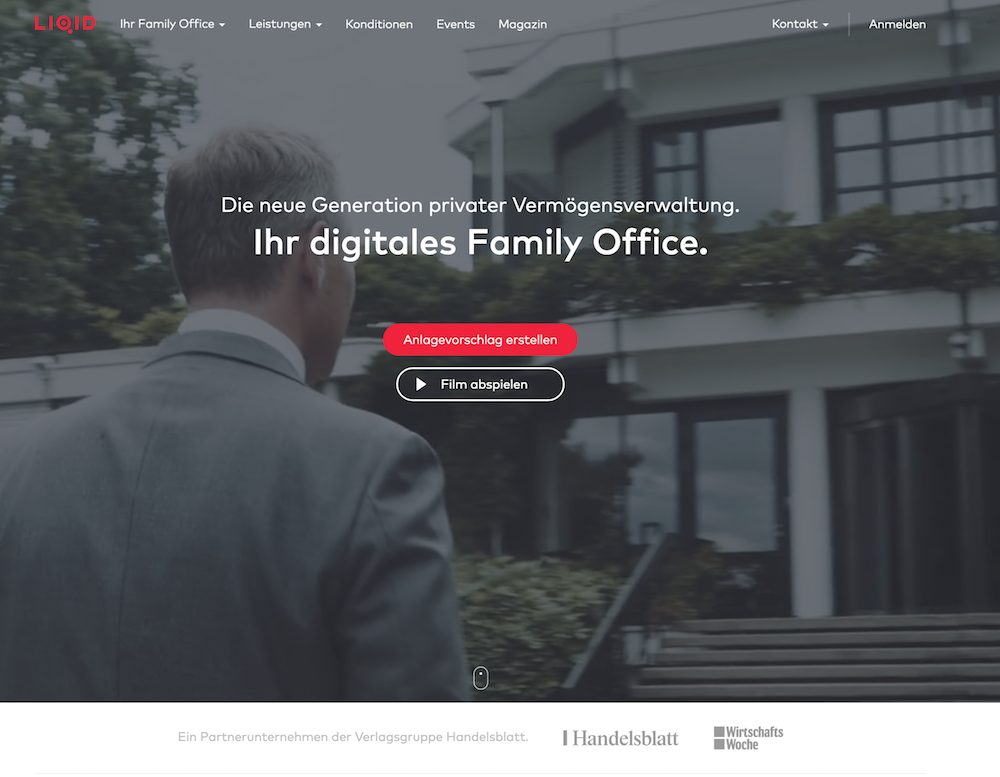 LIQID Webseite