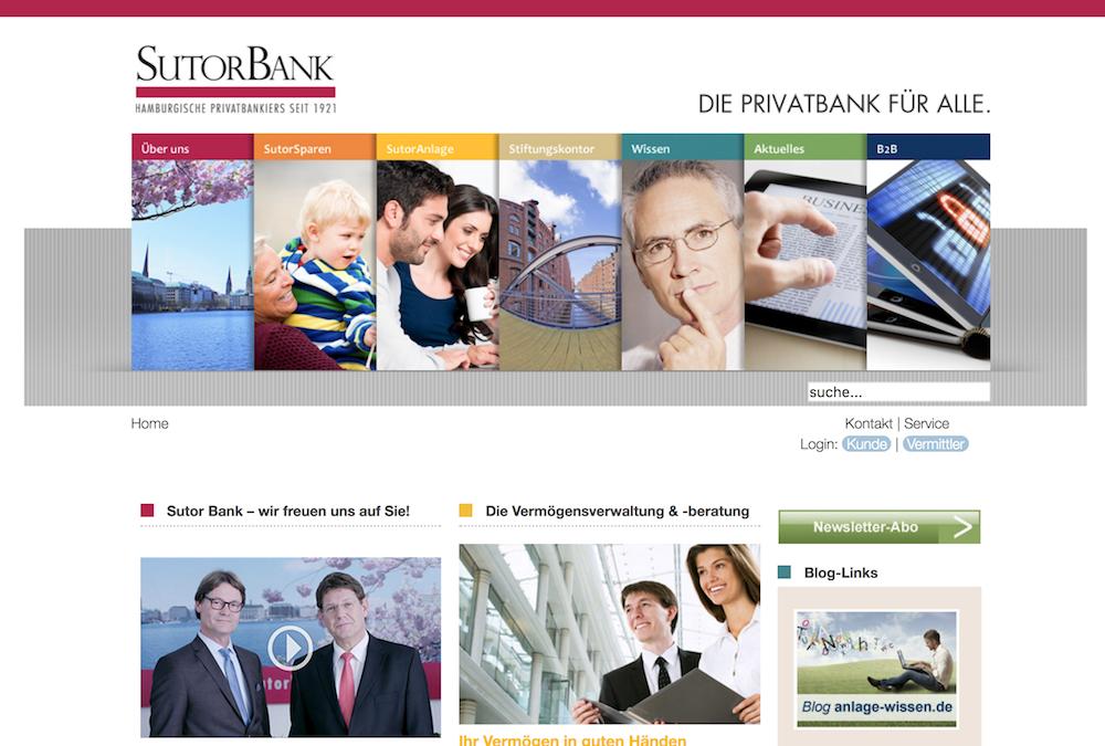 Sutor Bank Webseite