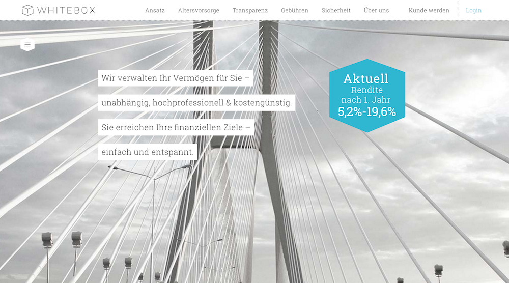 Whitebox Webseite