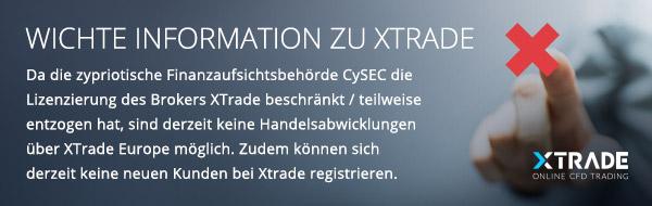 Wichtige Information zu XTrade
