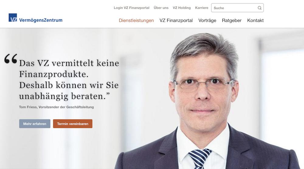 VermögensZentrum Homepage