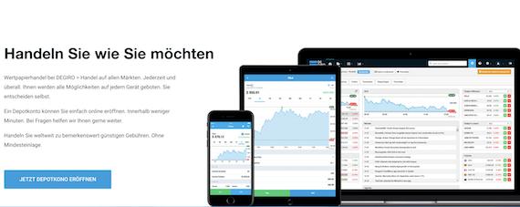 Das Handeln mit der DEGIRO App bietet die Möglichkeit, unterwegs einen Trade abschließen zu können