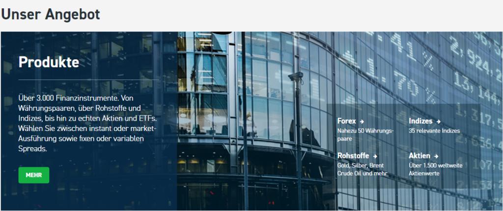 Neben CFDs können Anleger bei XTB auch Forex sowie direkt Aktien & ETFs handeln.