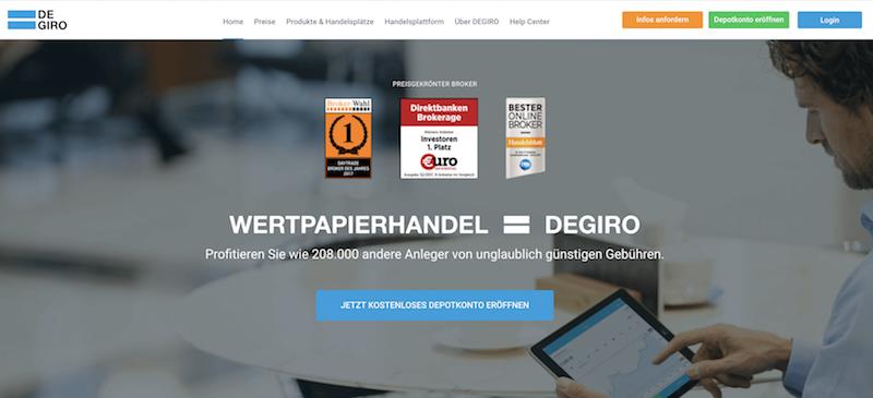 DEGIRO Homepage
