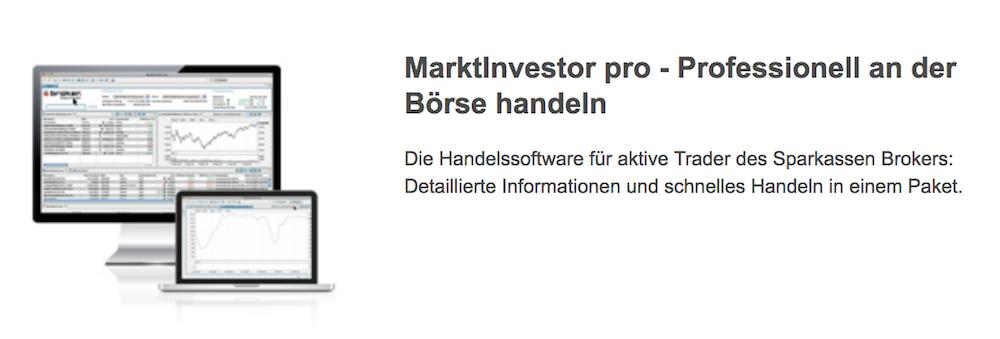 S Broker Marktinvestor pro