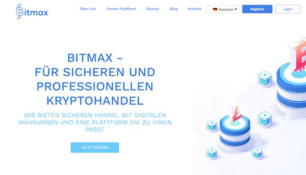 Bitmax Homepage
