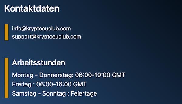 Kontaktdaten KClub